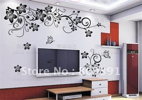 stencil stickers for walls free shipping removable wall sticker butterfly vine flower