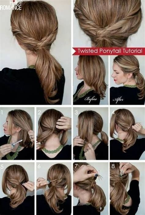 easy and beautiful pony hairstyles twisted ponytail step by step hairstyles pinterest