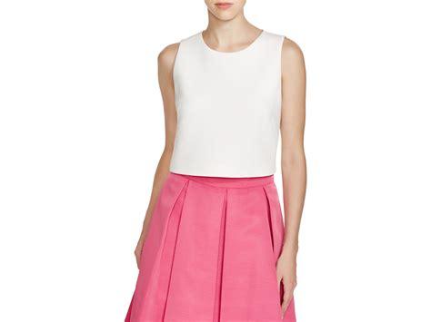 Eliza Top eliza j sleeveless crop top in white lyst