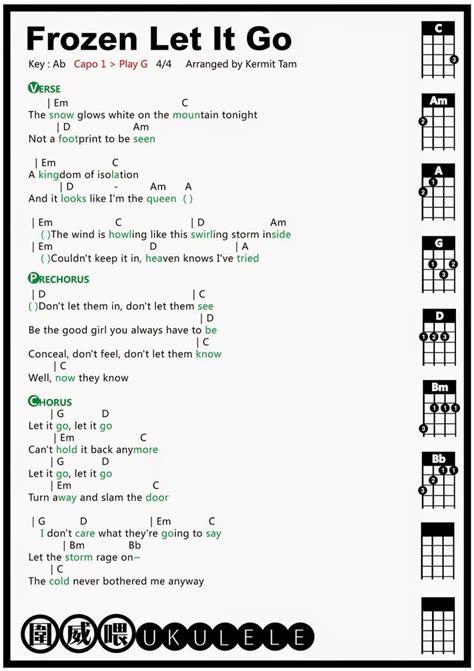 pin chords for ukulele c tuninge em e7 em7 e6 e7b9 emaj7 圍威喂 ukulele frozen let it go ukulele tab ukulele