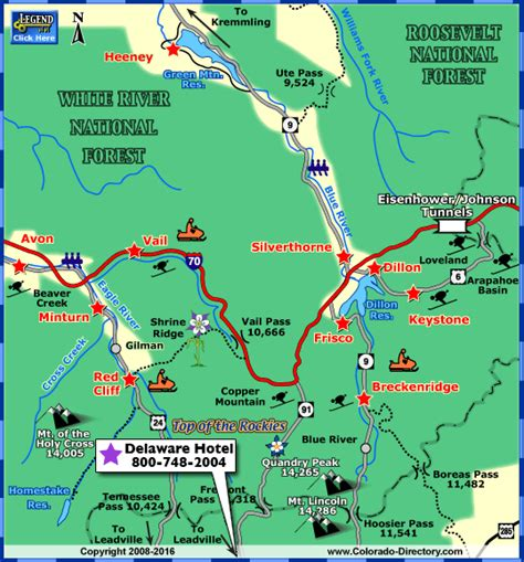 map of silverthorne colorado summit county local area map colorado vacation directory
