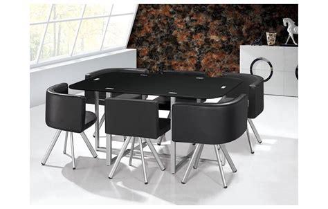 table et chaise encastrable ensemble table et 6 chaises encastrables en simili cuir