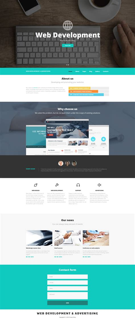 Joomla Template by Web Development Joomla Template