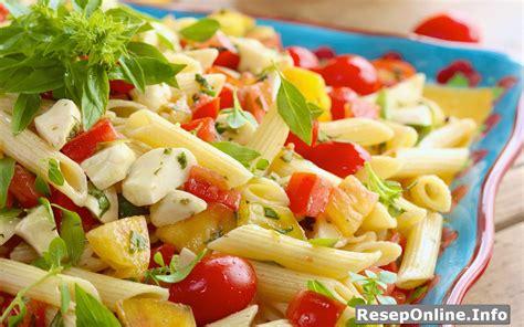 membuat salad sayur enak resep membuat pasta salad enak dan sederhana reseponline