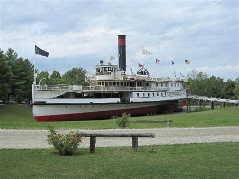 schip vermont ticonderoga paddle wheel passenger ship picture of