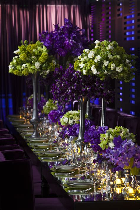 purple and green centerpieces for weddings awesome picture of large arranged flower purple and green