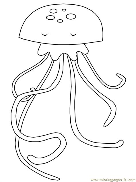 jelly fish coloring pages free printable coloring page