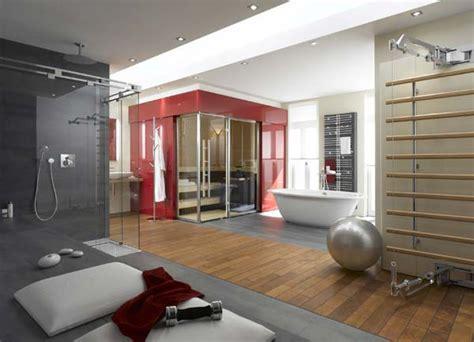 gym bathroom european bathroom idea finnish sauna plus tanning and