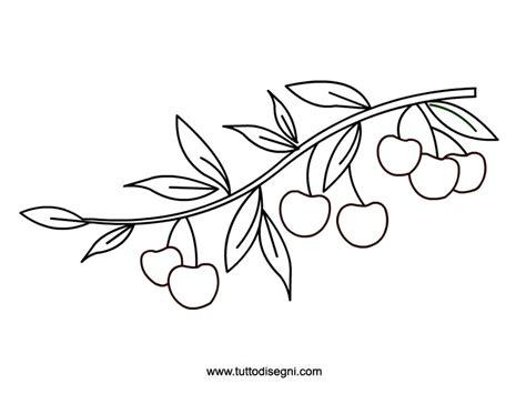 rami di fiori da colorare ramo con ciliegie da colorare tuttodisegni