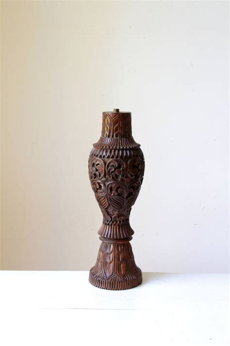 large wooden l base vintage wood carved l base large wooden l tall wahyublahe