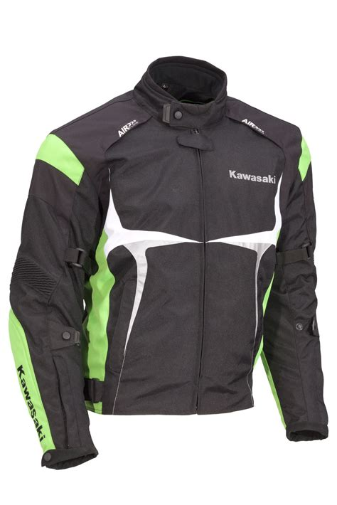 kawasaki jacket sports textile jacket green