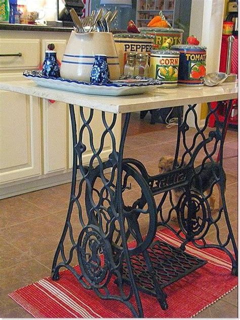 what s old is new and upcyclded vintage at latelierhomevan 30 day adventures 1000 images about sewing machine base kitchen island on