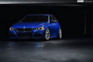 estoril blue bmw f30 3 series on vmr 803 wheels