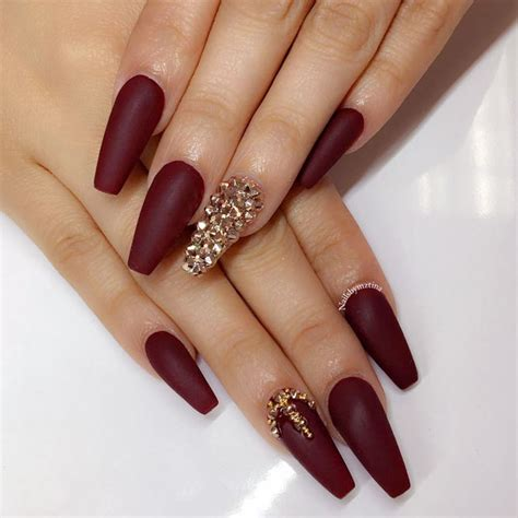maroon color nails maroon nails will make a out of you