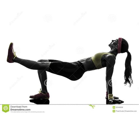 woman exercising fitness workout plank position silhouette royalty  stock image image