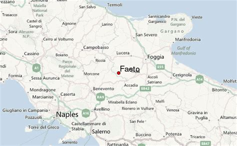 map of foggia italy faeto weather forecast