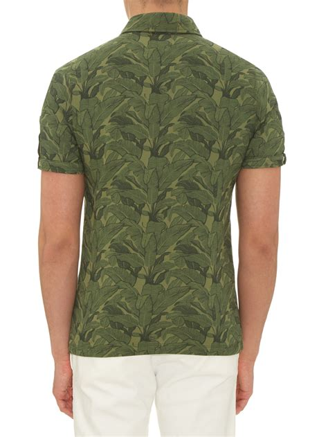 Poloshirt Banana Chippy michael bastian banana leaf print cotton polo shirt in green for lyst