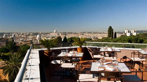 roof top bar rome la terrasse cuisine lounge rooftop bar in rome