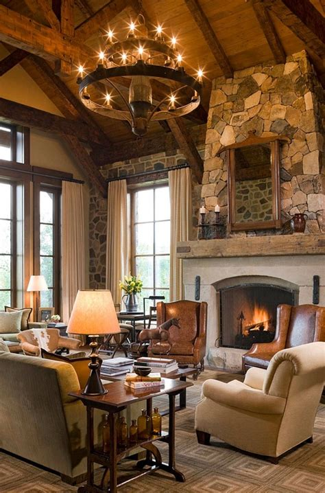 rustic home decorating 55 airy and cozy rustic living room designs digsdigs