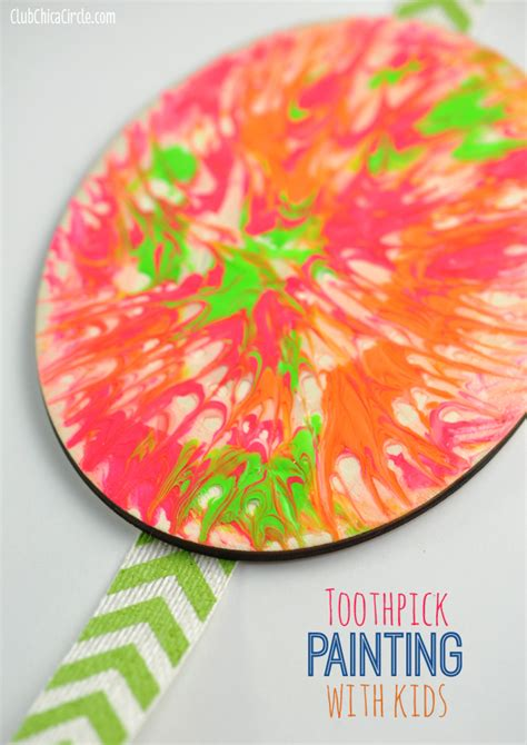 paint crafts for easy toothpick painting with