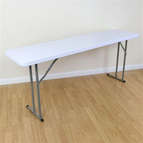 Narrow Folding Table by 6ft White Narrow Table Folding Legs Outdoor Buffet Garden