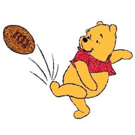 pooh bear kicking  football cartoons myniceprofilecom