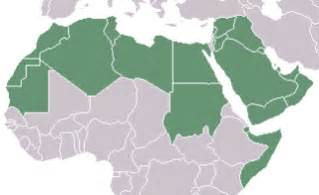 Arab World Map by Wikipedia The Arab World Map Of Arab League States In