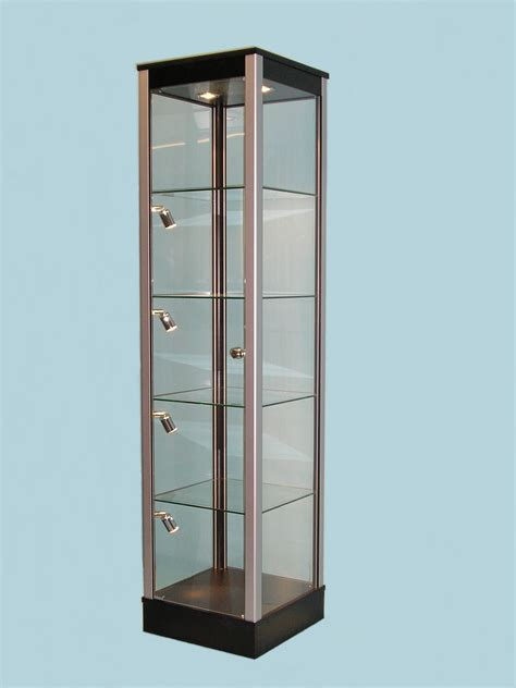 Corner Display Cabinets by Black Glass Display Cabinet With Corner Ligfhts 183 Designex