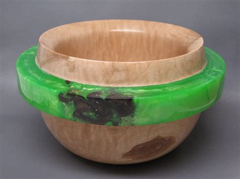 Handcrafted Wooden Bowls - handcrafted wooden bowl made of western figured maple with a
