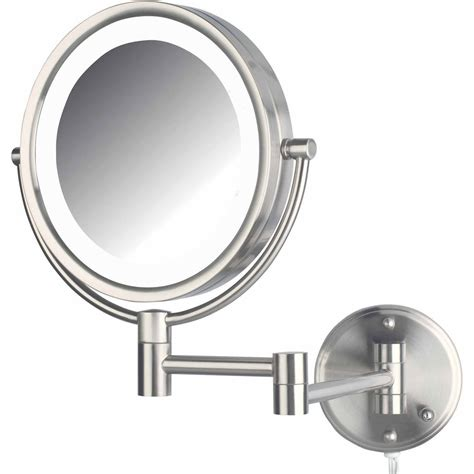 conair sided lighted wall mount mirror brushed nickel rubbed bronze wall mounted makeup mirror photos wall
