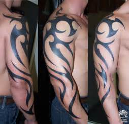 tribal tattoos om arm for man ideas
