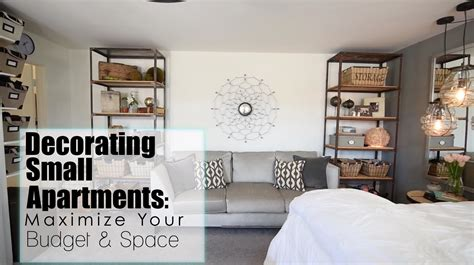 how to maximize space in a small apartment maximize your space budget in small apartments interior design youtube