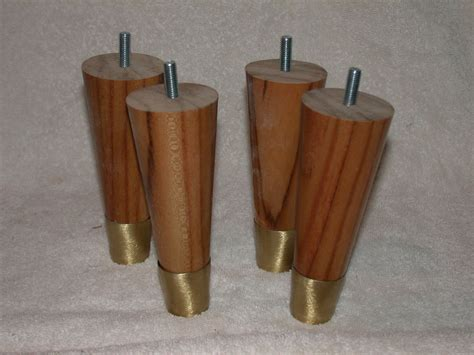 in sofa legs furniture legs 5 1 2 quot round full taper uncle bob s