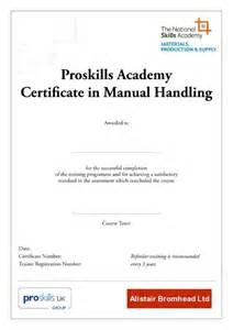 Moving And Handling Certificate Templates by Manual Handling Certification