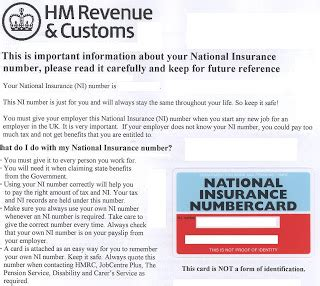 National Insurance Letter At The End Lost My National Insurance Number And I A Starting Monday The Student Room