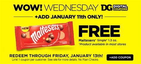 Dollar General Sweepstakes 2017 - dollar general free maltesers single load coupon today 1 11 familysavings