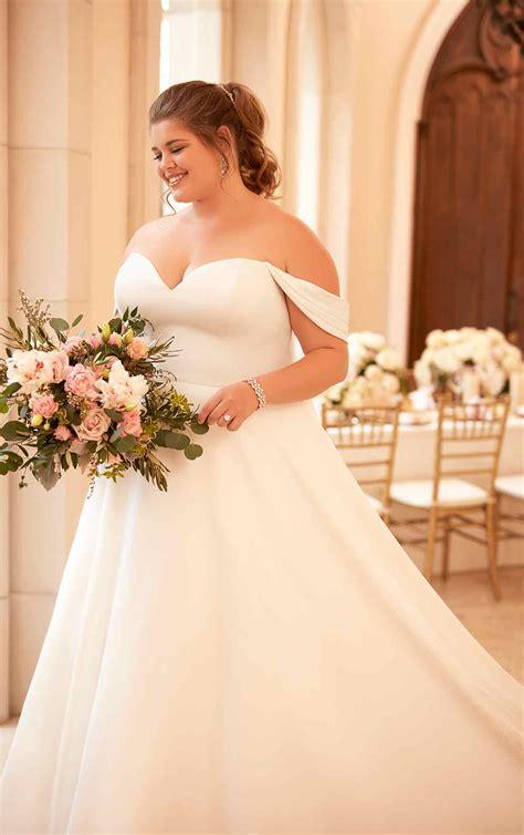 simple satin  size wedding dress stella york wedding