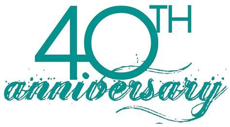 40th anniversary clipart PNG and cliparts for Free