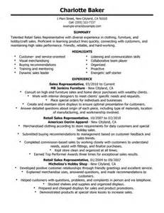 Sles Of Resumes For Customer Service by Retail Resume Cv Template Resume Exles
