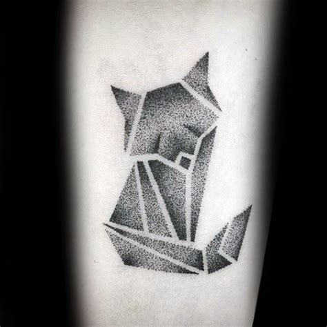 90 origami tattoo designs for men folded paper ink ideas