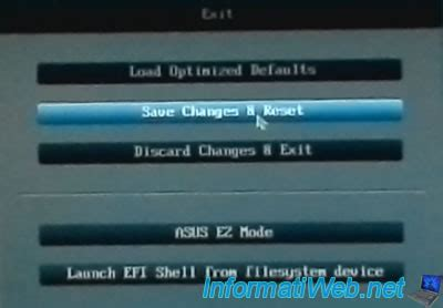 Asus Laptop Can T Exit Bios flash update the bios of an asus motherboard with ez flash 2 bios informatiweb