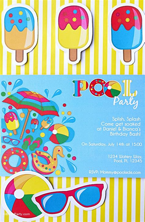 printable pool party decorations pool party ideas kids summer printables party ideas
