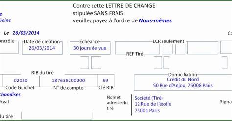 Pr Sentation Lettre De Change Modele Lettre De Change