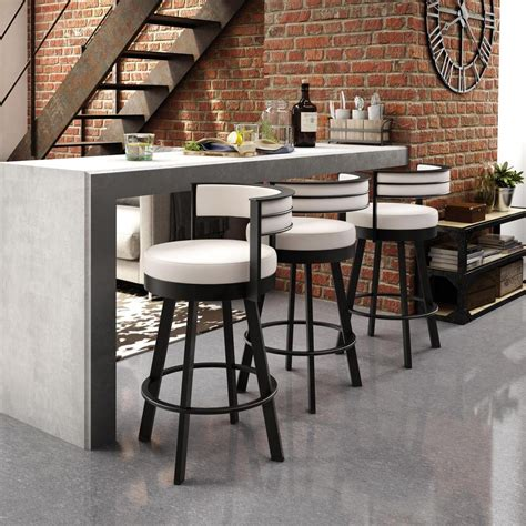 Industries Counter Stools by Amisco Industries Ltd Browser 26 In Textured Brown