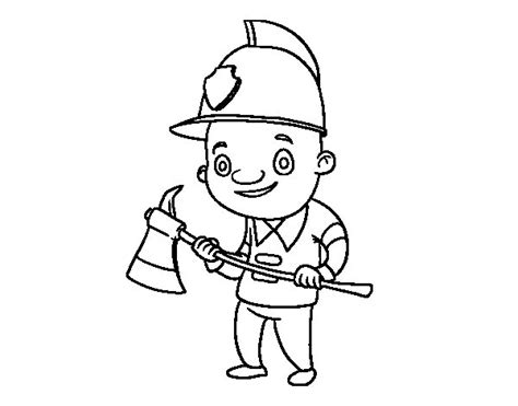 free coloring pages of putting out fire