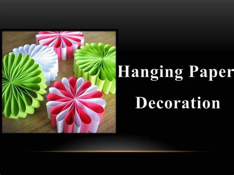 How To Make Paper Decoration - diy how to make a hanging paper decoration