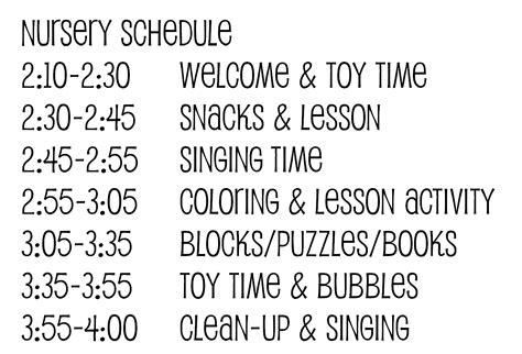 Church Nursery Decor Ideas On Pinterest Church Nursery Nurseries And Free Bible Church Nursery Schedule Template