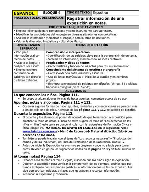 planeaciones y actividades de primaria 2do grado bloque iv espa 241 ol