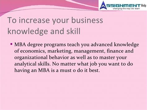 What Is A 5 Year Mba by Assignment Help And Mba Trends In Current Markets