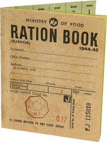 rationing book template world war two ration book replica
